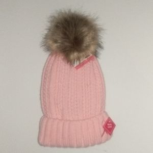 Pink Breast Cancer Pom Hat